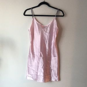 Pink slip nightie